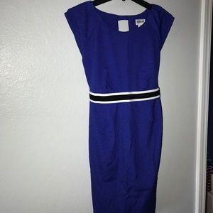Motherhood Maternity Blue Dress medium